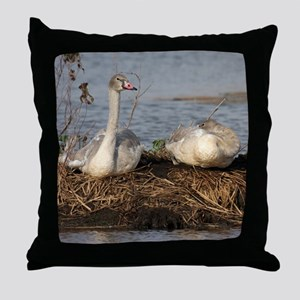 Trumpeter Swan MP Throw Pillow