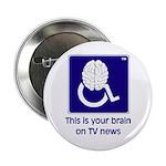 Brain on TV News Button