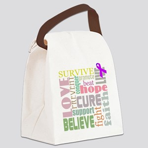 alzheimers-wordcollage-light Canvas Lunch Bag