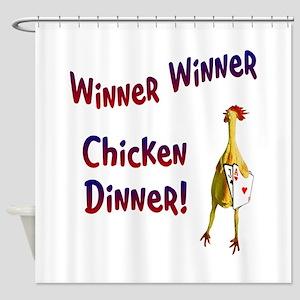 chickendinner1 Shower Curtain