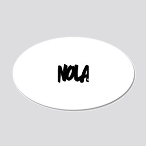 NOLA Brushed W 20x12 Oval Wall Decal