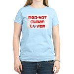 Red-Hot Cuban Lover Women's Pink T-Shirt