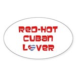 Red-Hot Cuban Lover Oval Sticker