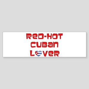 Red-Hot Cuban Lover Bumper Sticker