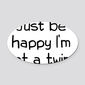 twin2 Oval Car Magnet