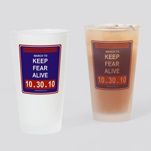marchtokeepfearaliveblack Drinking Glass