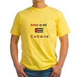 Amo a mi Cubana. Yellow T-Shirt