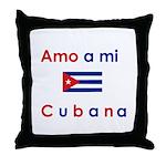 Amo a mi Cubana. Throw Pillow