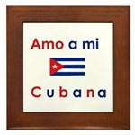 Amo a mi Cubana. Framed Tile