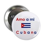 Amo a mi Cubana. Button
