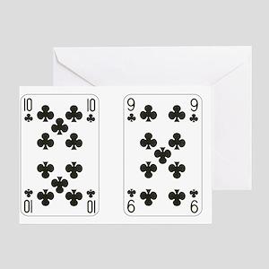 Ten Nine Clubs Greeting Card