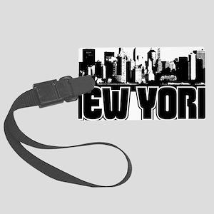 New York Skyline Large Luggage Tag
