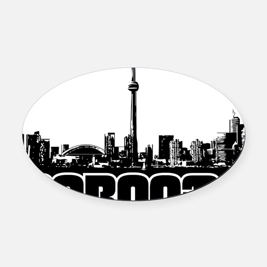 Toronto Skyline Oval Car Magnet