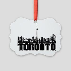 Toronto Skyline Picture Ornament