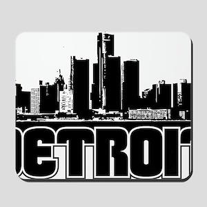 Detroit Skyline Mousepad