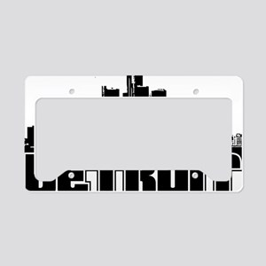 Detroit Skyline License Plate Holder