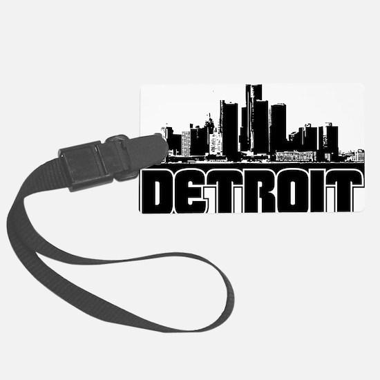 Detroit Skyline Luggage Tag