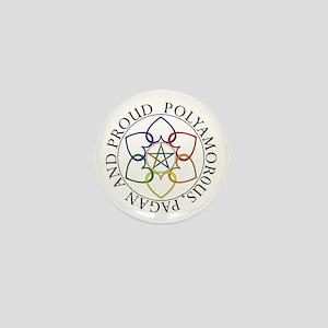Pagan Poly and Proud circle Mini Button