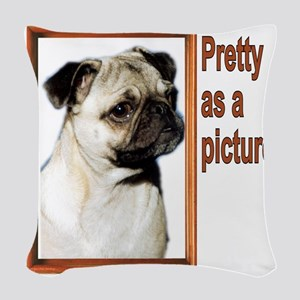 pretty picure Woven Throw Pillow