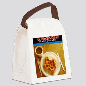 Postcard Texas Waffle_300dpi_pad Canvas Lunch Bag