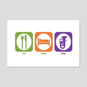 Eat Sleep Tuba Mini Poster Print