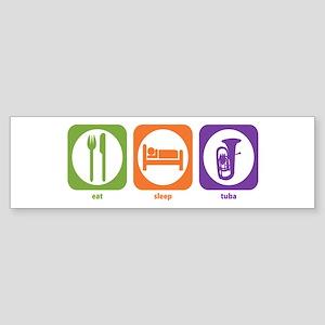 Eat Sleep Tuba Bumper Sticker