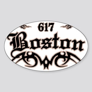 Boston 617 Sticker (Oval)