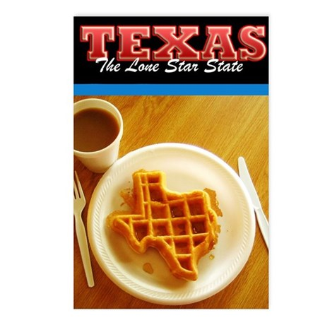 Postcard Texas Waffle_300 Postcards (Package of 8)