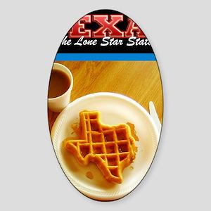 Postcard Texas Waffle_300dpi_4x5 Sticker (Oval)