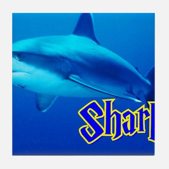 Sharks Wall Calendar Tile Coaster