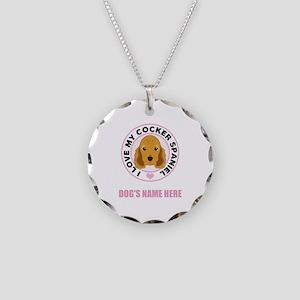 Custom Cocker Spaniel Necklace Circle Charm