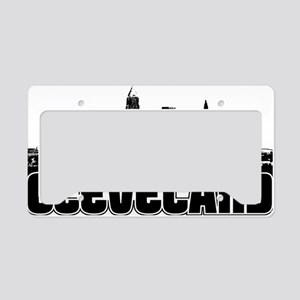Cleveland Skyline License Plate Holder