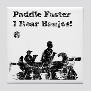 I hear banjos vintage Tile Coaster