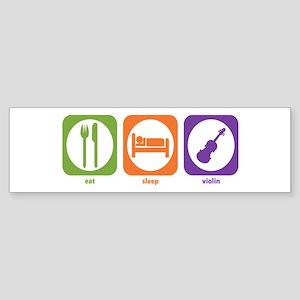 Eat Sleep Violin Bumper Sticker