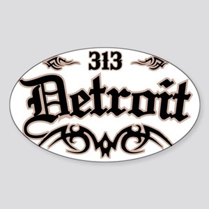 Detroit 313 Sticker (Oval)