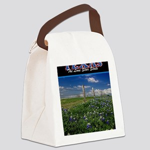 Postcard Texas Bluebonnets_0999_3 Canvas Lunch Bag