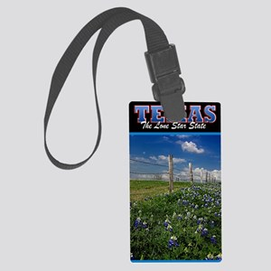 Postcard Texas Bluebonnets_0999_ Large Luggage Tag