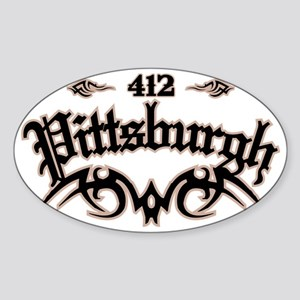 Pittsburgh 412 Sticker (Oval)