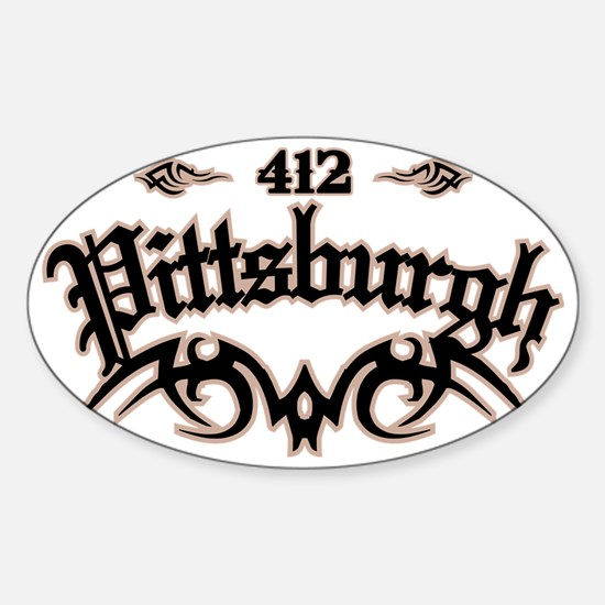 Pittsburgh 412 Sticker (Oval)