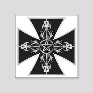 """Maltese Cross Square Sticker 3"""" x 3"""""""