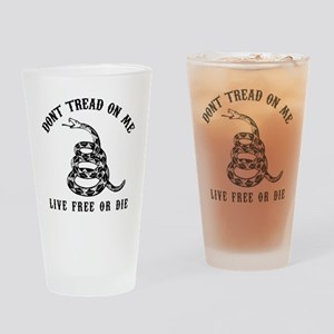 DTOM Black Drinking Glass