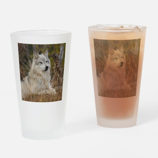 Wolf 10x10 Drinking Glass