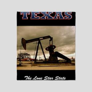 958 Texas_Pumpjack_0998_300dpi_ Throw Blanket