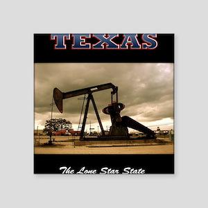 "958 Texas_Pumpjack_0998_300 Square Sticker 3"" x 3"""