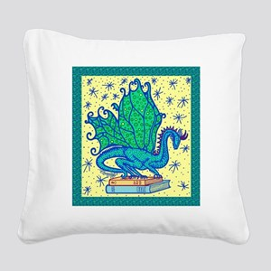 dragon-bks_color Square Canvas Pillow