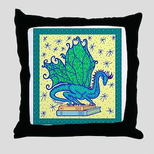 dragon-bks_color Throw Pillow
