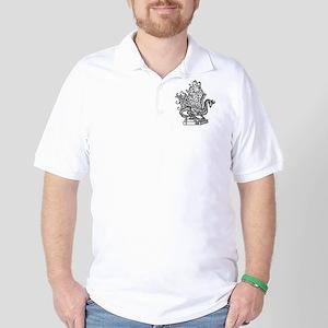 dragon-bks_black Golf Shirt