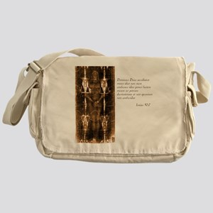 Isaiah 50-7 - Latin Messenger Bag