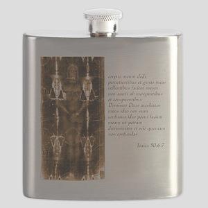 Isaiah 50-6-7 - Latin Flask