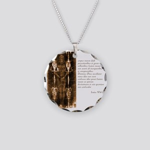 Isaiah 50-6-7 - Latin Necklace Circle Charm